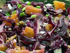 Rotkohlsalat mit Orangen und Schafsfeta (zum Vergößern bitte Klicken)