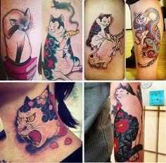 horitomo, state of grace, SJ Cat Tattoos, Tattoo Cat, Tattoo Drawings, Sleeve Tattoos, Tatoos, Piercing Tattoo, Piercings, Tattoo Animal, Japanese Sleeve
