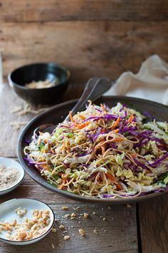 Chinese Chicken Salad - with crunchy noodles and an simple but amazing dressing by David Chang (Momofuku)