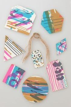 Neon Sketch Gift Tags