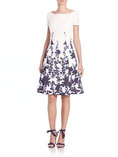 Carolina Herrera - Printed Cloque Dress