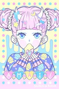 pastel, kawaii, and anime image Art Kawaii, Kawaii Anime Girl, Kawaii Drawings, Cute Drawings, Anime Kunst, Anime Art, Chibi, Girls Manga, Pastel Goth Art