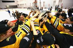 The Boston Pride are the NWHL champions and have taken home the inaugural Isobel Cup victory! Women's Hockey, Hockey Players, Victorious, Boston, Champion, Pride, Usa, Sports, Hs Sports