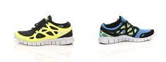 Fede sko fra Nike. De hedder Nike Free Run, og de er skabt som løbesko, men de kan også bruges til en bytur med vennerne.    Det er en del af barefoot kollektion, hvor dine fødder får fornemmelsen af, at du slet ikke har sko på, når du løber. Vi er fans.