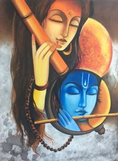 African Art Paintings, Modern Art Paintings, Oil Paintings, Ganesha Painting, Budha Painting, Ac2, Krishna Art, Krishna Images, Lord Krishna