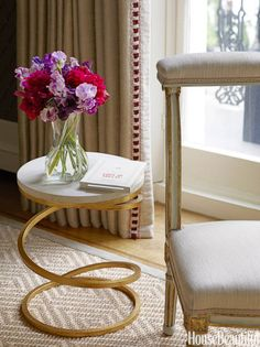 Marble Gold Accent Table - Small Accent Table Decorating Ideas - House Beautiful