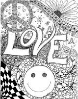 Adult coloring page Love