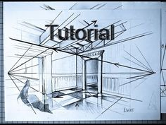 Two Point Perspective INDOOR ROOM Drawing Tutorial For Beginners