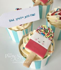 Fab lolly cookies cupcakes Father's Day Wedding Cake Designs, Wedding Cakes, Cupcake Cookies, Cupcakes, Luxury Cake, Sugar Cake, Dream Cake, Home Wedding, Cupcake
