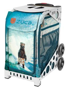 Zuca from Wooska. Grizzly Insert Bag and Frame. 10 frame colors, wheels flash or no flash. We will personalize for you. Free Gift. No Sales Tax. Free US Shipping