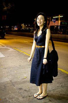 fd1a73be95fa6a Black linen United Colours of Beneton dress.