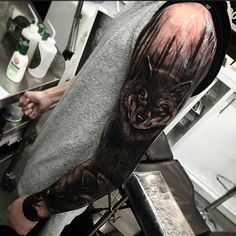Wolf tattoo- arm!  How about on ma leg? :3 :)