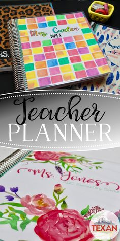 Organize in style with a custom teacher planner!  These planners are absolutely stunning, and are perfect for teachers as well as home school!  Click the pin to read more about these must have organization tools!