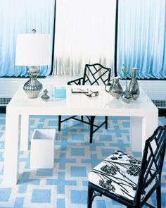 jonathan adler modern ice blue white and black office by jonathan adler the blue white office space