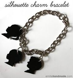 I loved shrink dinks when I was a kid and I have always liked charm bracelets. Shrinky Dinks jewelry tutorials