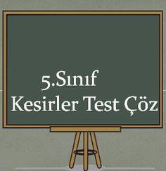 5.Sınıf Kesirler Test Çöz