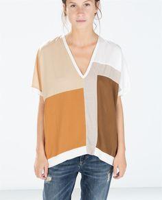 Image 1 de T-SHIRT BLOC DE COULEUR de Zara