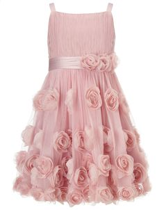 Rosie Cascade Dress | Pink | Monsoon