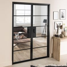 For Sale are a set of our Industrial Style Interior Double Doors. That way you get to inspect the quality of our doors for yourself. Double Glass Doors, Glass Barn Doors, Sliding Glass Door, Living Room Double Doors, Crittal Doors, Crittall, Double Doors Interior, Interior Door, Interior Design