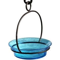 #Aqua Cuban Bowl Birdbath.  Made of recycled glass and metal, this bird bath will attract many song birds such as Blue Birds, Orioles, Juncos, and many more depending on your location and season. This colorful cuban bowl will sure bring a nice color touch to any garden!  #birdbath #birdbaths
