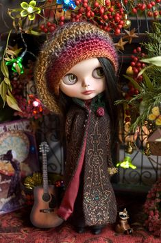 Peaceful Song. Long Tweed Coat Crocheted by SugarMountainArt