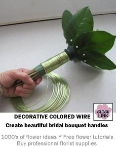 Better than ribbon for finishing bouquet handles.  Can be kept in vase of water until needed - stays cleaner than ribbon.  Comes in lots of colors, including black, pink, blue, green and more.