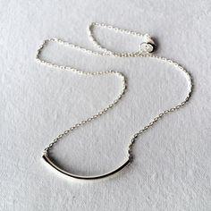 Silver Bar Necklace - Simple Silver Necklace - Everyday Silver Necklace - Mnimalist Necklace