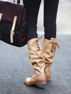 Ahhhhhhhh I want!!! Free People Manchester Tall Boot, $285.00 Tall Boots, Lace Up Boots, Bootie Boots, Shoe Boots, Shoe Closet, Riding Boots, Me Too Shoes, Fashion Shoes, Free People