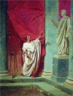 The Oath of Brutus before the statue - Fyodor Bronnikov