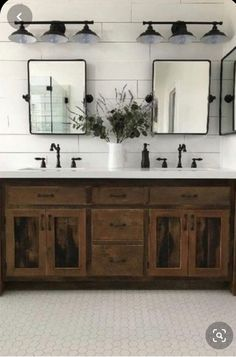 27 Beautiful Farmhouse Master Bathroom Decor Ideas And Remodel. If you are looking for Farmhouse Master Bathroom Decor Ideas And Remodel, You come to the right place. Here are the Farmhouse Master Ba. Diy Bathroom, Bathroom Remodel Master, Industrial Farmhouse Bathroom, Modern Bathroom, Modern Farmhouse Bathroom, Rustic Bathroom Vanities, Bathroom Design, Bathroom Decor, Bathroom Renovation