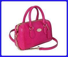 Coach Crossgrain Leather BABY Bennett Satchel in Pink Ruby - Crossbody bags (*Amazon Partner-Link)