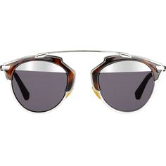 """Dior """"Dior So Real"""" Sunglasses ($595) ❤ liked on Polyvore featuring accessories, eyewear, sunglasses, glasses, colorless, clear glasses, clear lens sunglasses, christian dior sunglasses, tortoise sunglasses and tortoiseshell glasses"""