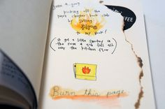 wreck this journal- burn this page:)