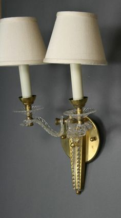 Pair French Moderne  Sconces image 4 1st Dibs