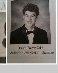 Senior Yearbook Quotes -- Darren Criss. :)  awesome!