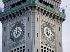 Clock Tower of the Customs House. Boston, MA