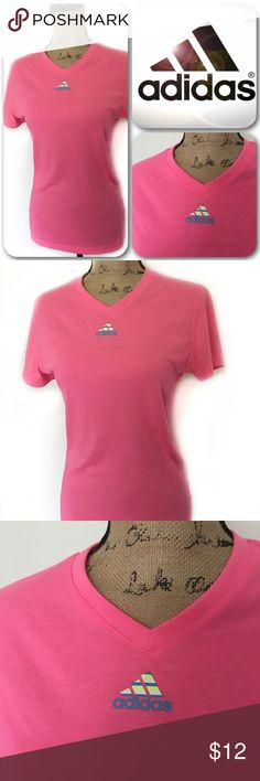 Adidas Workout Top Adidas Climalite workout Top. Hardly worn like new. Hot Pink in color. adidas Tops Tees - Short Sleeve