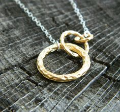Gold Hammered Rings