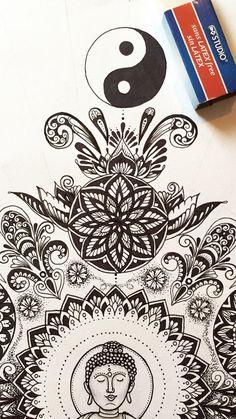 Freehand ink drawing by @samschroederart   INSTAGRAM: samschroeds