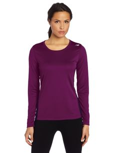 New Balance Women's Go 2 Long Sleeve Top, Grape Juice, Medium, The go-to for runners who just want to go and go. The Go 2 Long Sleeve is lightweight and wicking with 20+ UPF protection, even the sun can't catch you today., #Sporting Goods, #Shorts, $27.75