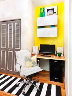 For all the nooks and niches that need some TLC, HGTV.com has eight ideas that will help you decorate those odd spaces.