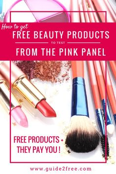 Get FREE Beauty Products to Test from The Pink Panel. I love this product testing panel. They offer free products and they also pay you for being a product tester. Free Beauty Samples, Free Makeup Samples, Free Cosmetic Samples, Get Free Samples, Free Stuff By Mail, Get Free Stuff, Beauty Regimen, Beauty Products, Free Products