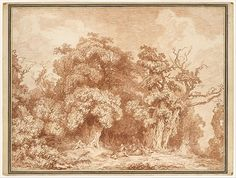 #MetKids Fun Fact: You might think Fragonard drew this picture outdoors, but he actually made it in his studio based on a sketch he made while traveling.   Jean Honoré Fragonard (French, 1732–1806). A Gathering at Wood's Edge, ca. 1770-73. The Metropolitan Museum of Art, New York. Purchase, Lila Acheson Wallace Gift, 1995 (1995.101)