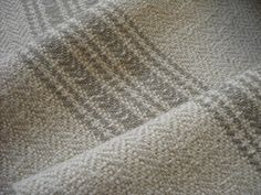 Handwoven Short Table Runner, Light Beige with Muted Taupe Stripes, Linen and Cotton Loom Weaving, Hand Weaving, Table Runner Pattern, Grain Sack, Herringbone Pattern, Striped Linen, Light Beige, Table Linens, Home Textile