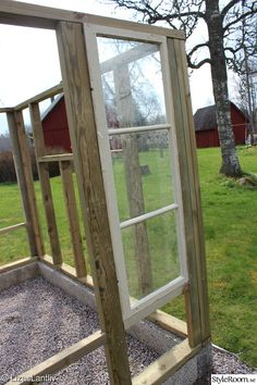Backyard Greenhouse, Greenhouse Plans, Garden Projects, French Country, Pergola, Shed, Outdoor Structures, Windows, Patio