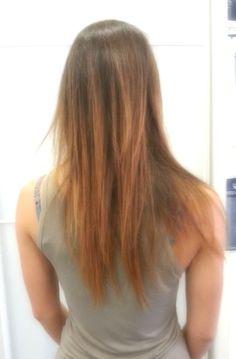 Effetto degradè capelli