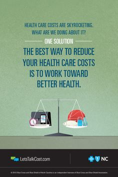 Want to reduce your health care costs? Start with better health. BCBSNC has a variety of tools and programs to help North Carolinians get – and stay – healthy. #letstalkcost