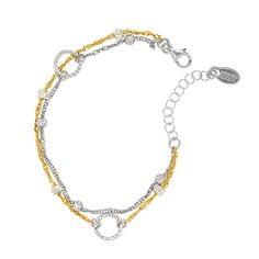 Sterling Silver Yellow Gold Plated Legacy Bracelet - available at Daniel Jewelers, Brewster New York