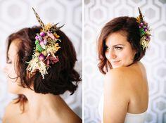 Brides and bridesmaids hair