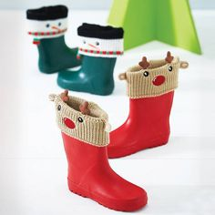christmas welly cuffs by thelittleboysroom | notonthehighstreet.com